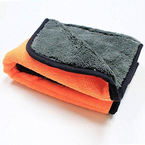 Alcyoneus Dicke Plüsch Handtuch reinigen Tuch Auto Pflege Wachs Polnisch (Orange)