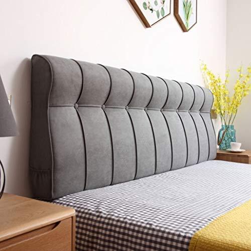 CNZXCO Kopfteil Polster Wand-Kissen Leinenstoff, Bett rückenlehne Sofa Bett rückenlehne Lesen kopfkissen Waschbar Ohne kopfteil-Grau 150x60x15cm(59x24x6inch)