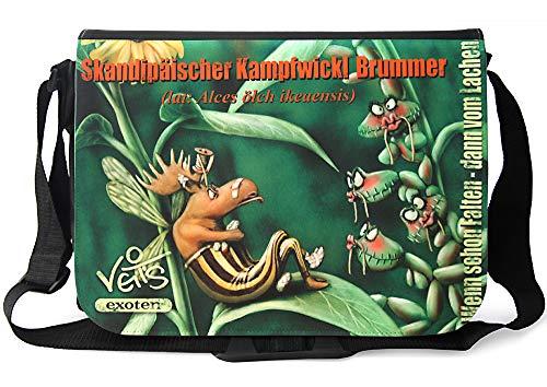 Veit'S lustige Schultertasche Schultasche College Tasche mit Motiv Skandipäischer Kampfwickl Brummer - TAB0197