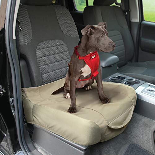 Kurgo Waterproof Shorty Car Bucket Seat Cover for Dogs, Hampton Sand Khaki
