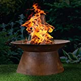 [page_title]-HI Feuerschale in Rostoptik Feuerstelle Gartenfeuer Feuerkorb Pflanzschale 50 cm