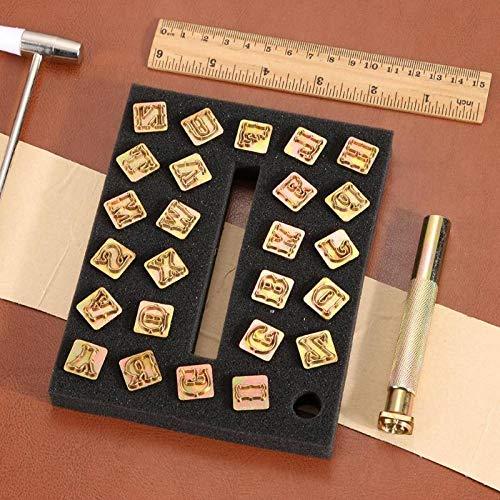 ADSIKOOJF 26 stks Alfabet Lederen stempelen afdrukken Punch Gereedschap 26 Engels Letters Metalen Stempel Set Lederen Gereedschap