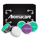 Shower Steamers for Men and Women, 6x Lavender And Eucalyptus Vapor Tablets Bath Bombs with Essential Oils, For Aromatherapy, Sinus and Stress Relief, Great Gifts for Him or Her