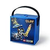 LEGO Nexo Knights Lunch Handle, Portable Storage Box, Blue, 15.9 x 17.3 x 9.7 cm