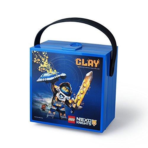 LEGO NEXO KNIGHTS Brotdose mit Tragegriff, Tragbare Aufbewahrungsbox, blau