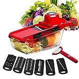 LENASH Cortador Vegetal multifunción con Cuchilla de Acero Mandoline Slicer Fruit Raller para Herramienta de Corte de Cocina Herramientas de Cocina