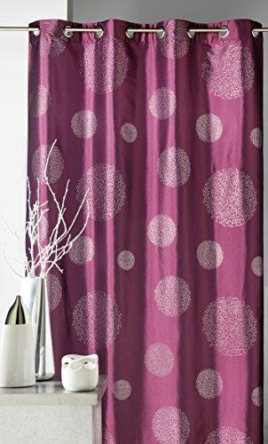 HomeMaison.com Einrichtungsvorhang aus bedrucktem TAFT, Silberfarben 140 x 260 cm Schokoladenbraun