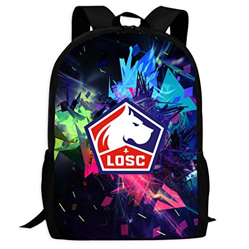 LILLE OLYMPIQUE SPORTING CLUB Sac /à Dos Scolaire LOSC Collection Officielle