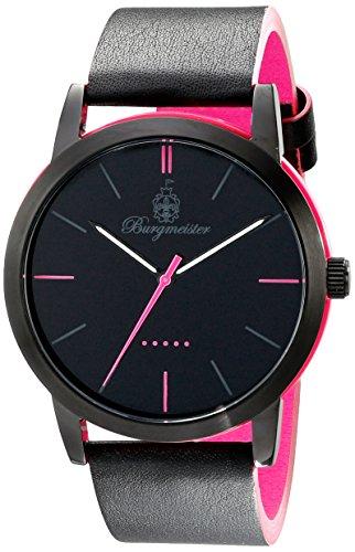 Burgmeister Armbanduhr für Damen mit Analog Anzeige, Quarz-Uhr und Lederarmband - Wasserdichte Damenuhr mit zeitlosem, schickem Design - klassische, elegante Uhr für Frauen - BM523-620C-1 Ibiza