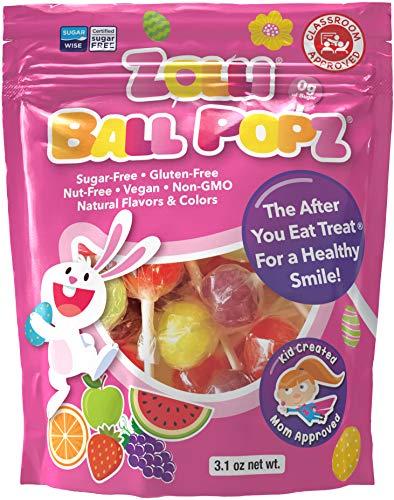 Zollipops Zolli Ball Popz Lollipops Clean Teeth, Easter, 3.1oz