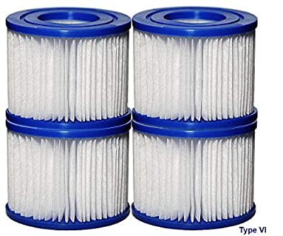 SUNSET FILTERS Type VI Spa Filter Replacement Cartridge - for Lay-Z-Spa, SaluSpa