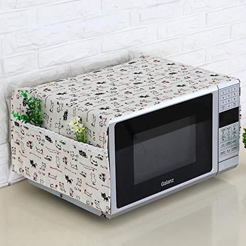 Miner 1pc Lin Housse Anti-poussière Housse Micro-Ondes hotte Four Micro-Ondes Serviette Micro-Ondes avec Sac de Rangement Accessoires de Cuisine Fournitures, Vert