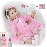ZIYIUI Realista Reborn Baby Doll 22 Pulgadas 55cm Vinilo de Silicona Suave Hecho a Mano Bebé Recién Nacido Juguete de Regalo de Cumpleaños