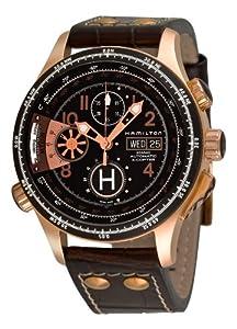 Hamilton Men's H76646533 Khaki 'Aviation X-copter' Black Chronograph Dial Watch image