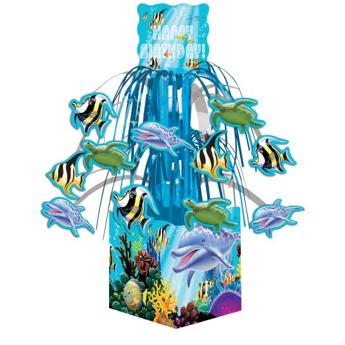 Creative Converting Ocean Party Cascading Centerpiece Dekoration, Mini