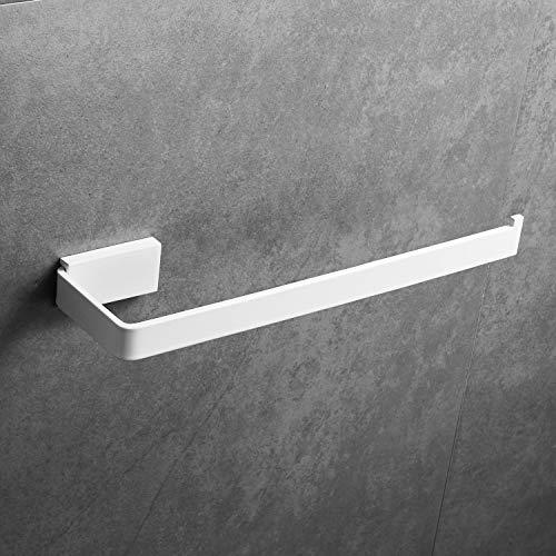 Toallero de pared para Baño, Blanco, 26 * 7.6 * 3 cm, Acero Inoxidable