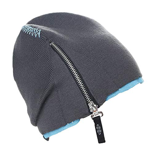 Xiang Ru Gorro de esquí Gorras - Zipper Double knit -...