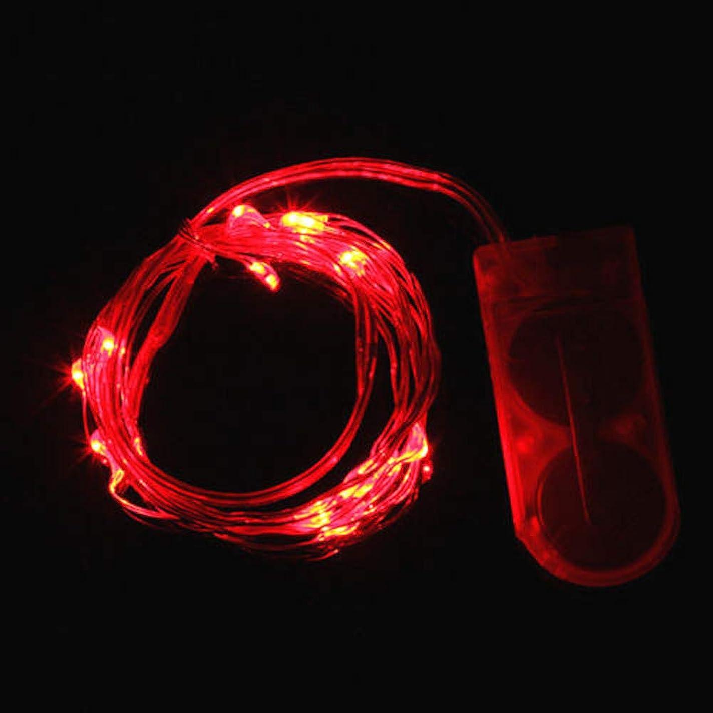 ゴールドカストディアン聖歌LED ライト 20個電球 ミニライト束 ハロウィン 新年 クリスマス Duglo 飾り イルミネーション おしゃれ 学園祭 結婚式 喫茶店 レストラン 図書館 文化祭 パーティー 北欧風 部屋飾り 可愛い デコレーション 電池式 String Lights (2m 20LED, レッド)