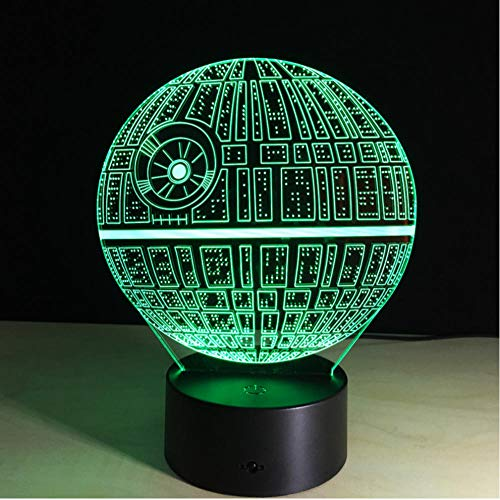 Touch Table lamp Desk Lamp 3D Lamp Night Lights Death Star LED Light Drop Ship touch switch 7-color sleep light
