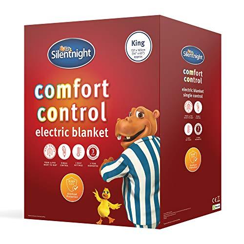 Silentnight Comfort Control Electric Blanket, White, King