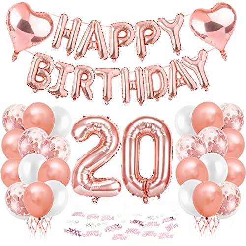 Cumpleaños Globos 20, Decoración de cumpleaños 20 en Rosas, Globos de Cumpleaños 20 año, Feliz cumpleaños Decoración Globos 20, Globos Numeros 20 para Fiestas, Decoracion Cumpleaños niña