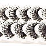 ICYCHEER Makeup Mixed 3D Mink Hair False Eyelashes Thick Cross Long Handmade Messy Full Strips Wispy Fluffy Eye Makeup Tool 5 Pairs (03)