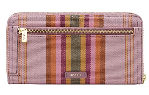 Fossil Logan Zip Around Clutch Bright Stripe