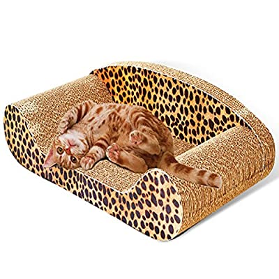 OWIKAR Scratcher Toy for Cats, Cat Scratch Board with Sofa Design Satisfy Cat's Natural Scratching Instincts and Saves Your Furniture Corrugated Board Toy Pet Grooming Supplies for Your Cat by OWIKAR