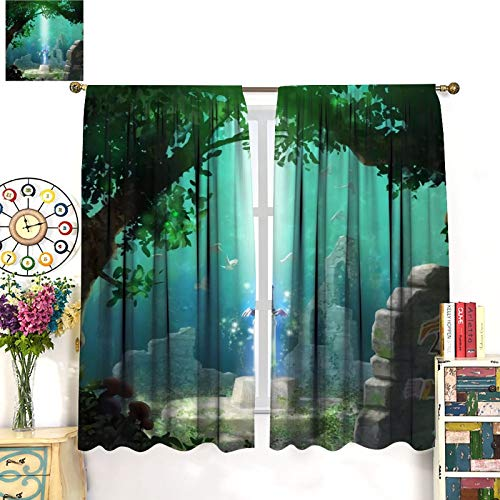 DRAGON VINES Legend of Zelda Forest Master's Sword CoolClassic CurtainsArt Decoration Curtains for Bedroom, Club, Living Room85x85inch(214x214cm)