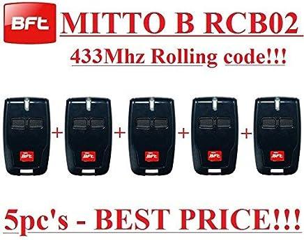 5 de calidad superior Transmisores BFT B RCB02 para el precio mejor./…/… 5 x BFT MITTO B RCB02 R1 2-canali mando remoto 433.92 Mhz rolling code Transmisores