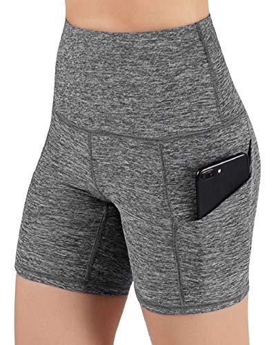 Yusongirl - Yoga-Shorts für Damen in Grau, Größe M