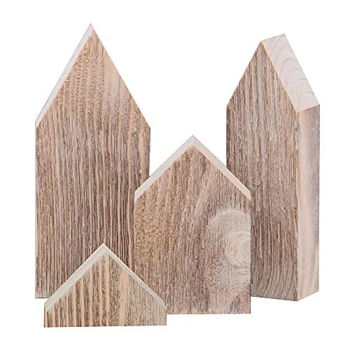 Nature by Kolibri Deko Häuser Aufsteller aus Holz im 3er Set