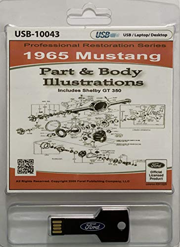 1965 Ford Mustang Part and Body Illustrations (USB)