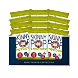 SkinnyPop Original Popped Popcorn, Individual Bags, Healthy Snacks, Gluten Free Popcorn, Non-GMO, 4.4oz(Pack of 12)