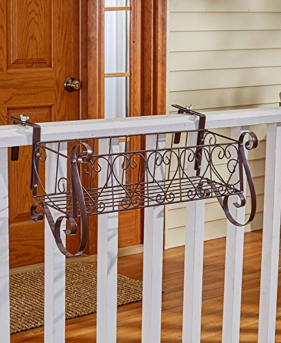 The Lakeside Collection Large Decorative Rail Planter