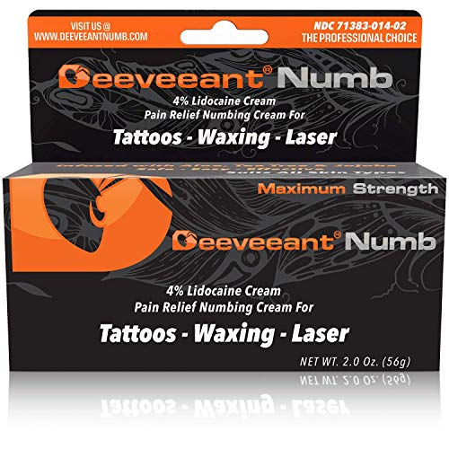Deeveeant Numbing Cream Lidocaine Anesthetic (2oz/56g) Topical...