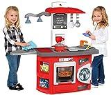 JT-Lizenzen Molto Spielküche Kinderküche Kitchen mit 12-TLG. mit Zubehör und Licht rot