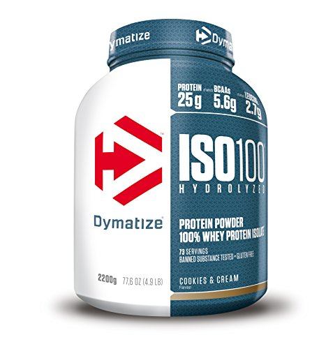 Dymatize ISO 100 Cookies&Cream 2,2kg - Whey Protein Hydrolysat + Isolat Pulver