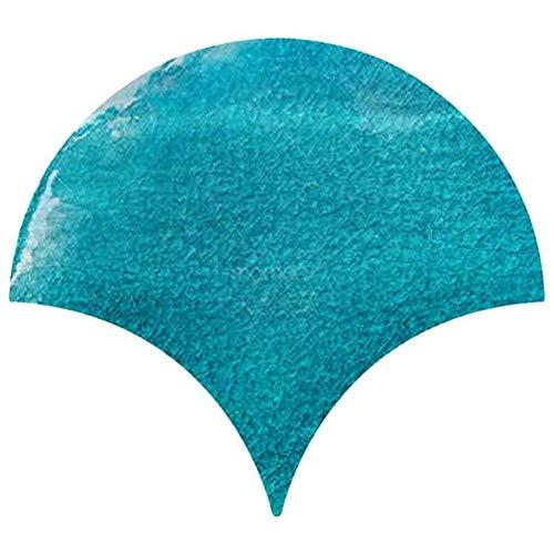 Pegatinas de pared de escamas de pescado escamas pasta azulejos arte pared adhesivo DIY cocina baño decoración (color: B, tamaño: mediano)