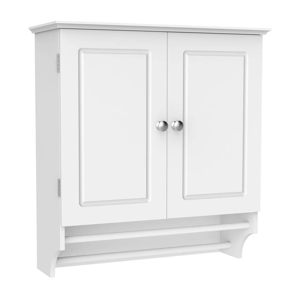 Yaheetech Double Door Bathroom Wall Cabinet Storage Organiser White With 2 Towel Bars Wall Mounted Cupboard Bathroom Wall Unit Medicine Cabinet For Kitchen Buy Online In India At Desertcart Productid 140528277