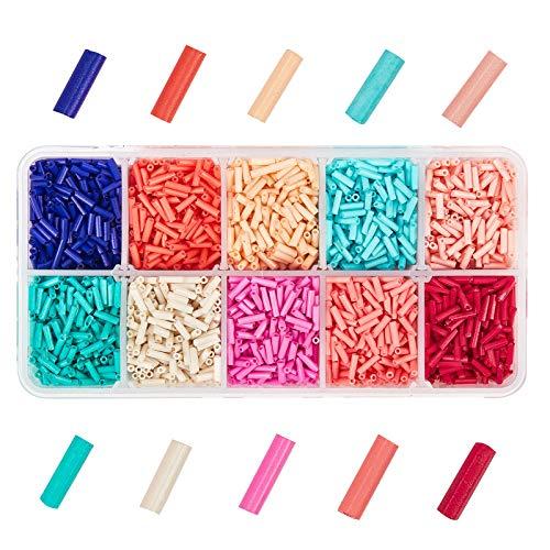PandaHall 5500 piezas 10 colores 6 mm rebordear cuentas de cristal de...