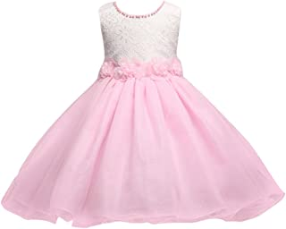 Zhuhaitf 高品質 Kids Little Girls Dress Princess Formal Party Wedding Bridesmaid Tulle ドレス for 2-6 year old