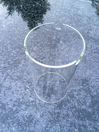 Stone & More Glaszylinder 17cm x 9cm Zylinder für Granitlaterne Ersatzglas Ersatzzylinder Glas