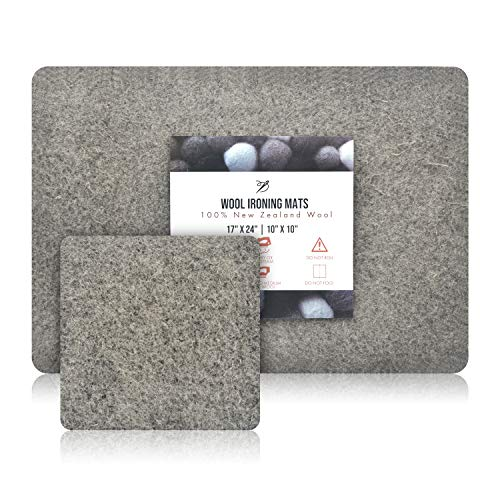 """Templeton 100% New Zealand Wool Pressing Mats for Crafts, Quilting, and Ironing, 2 Pad Value Pack Includes Large (17"""" x 24"""") & Portable (10"""" x 10"""") Mats"""