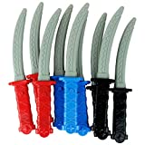Boley 12 Piece Ninja Sword Party Pack Set - Massive Party Pack Pretend Play Sword Set for Kids and Children - Perfect for Birthday Party Favors, Cosplay Halloween Costumes, and More!