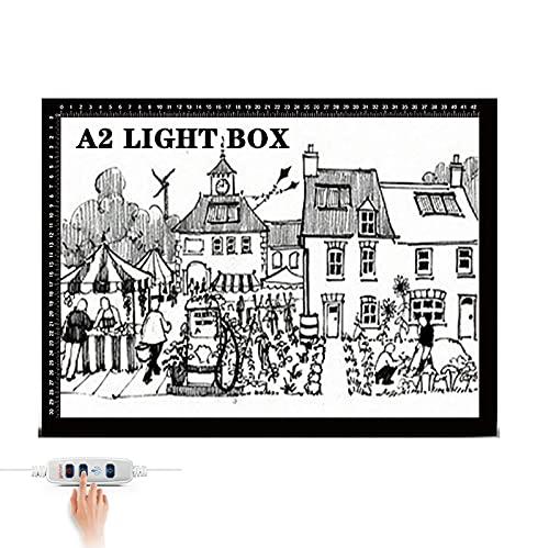 XPYDDD Tracing Light Box Mesa Luz De Dibujo LED De Luz Regulable Almohadilla Caja Portátil Ultradelgada Tablero De Copia con Cable USB para Dibujar Animación Pintura Dibujo Diseño De Plantillas,A2