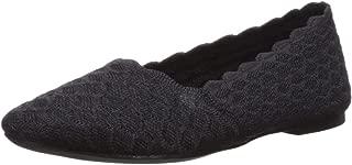 Women's Cleo-Scalloped Knit Skimmer Ballet Flat