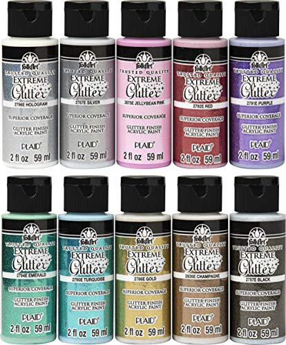 Glitter Craft Paint Set, 2 oz