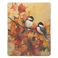 マウスパッド ゲーミングマウスパッド 滑り止め 18X22 厚い 耐久性に優れ 秋の葉の鳥 おしゃれ