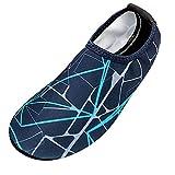 Zapatillas de Deporte Hombres, Mujer Zapatillas de Correr Zapatos de Playa a Rayas para Hombres Natación Calcetines de Buceo Zapatos a la Deriva para vadear por el río